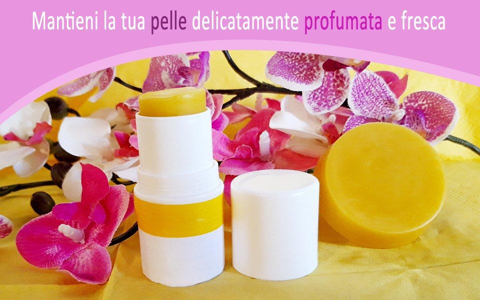 Deodorante naturale alla menta e limone