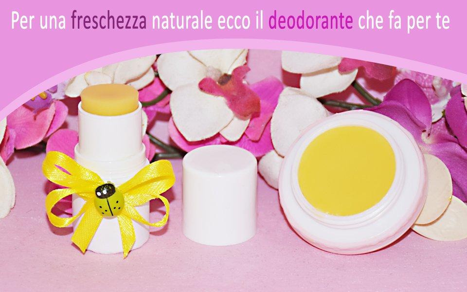 Deodorante naturale all'arancio e menta