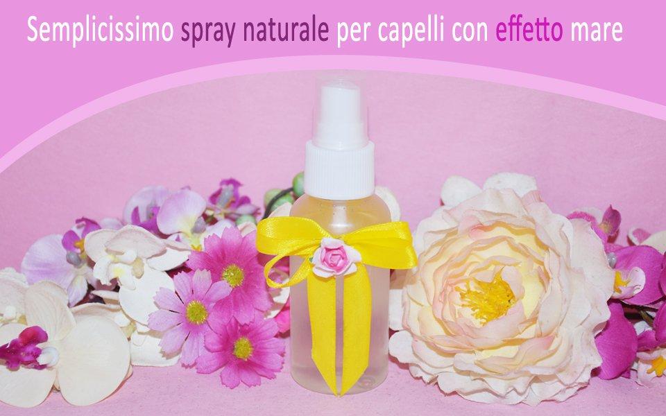 Spray per capelli effetto mare